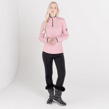Swarovski Embellished - Women's Savvy Half Zip Fleece Powder Pink