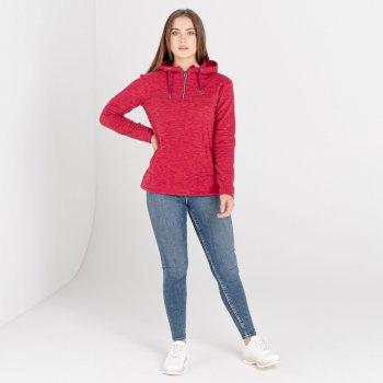 Swarovski Embellished - Women's Obsessed Half Zip Hoodie Beetroot