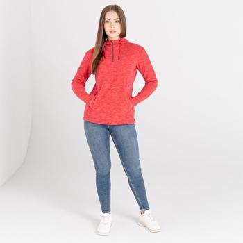 Swarovski Embellished - Women's Obsessed Half Zip Hoodie Lollipop Red