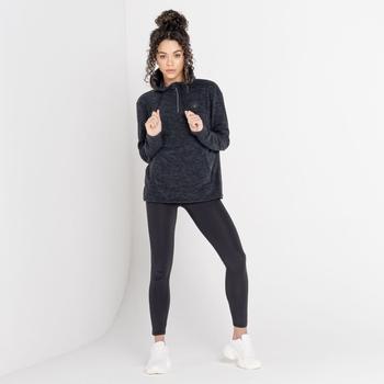 The Laura Whitmore Edit - Obsessed Half Zip Hooded Fleece Black