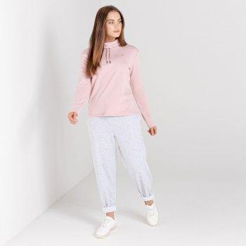 Swarovski Embellished - Women's Swoop Slouch Collar Sweater Powder Pink