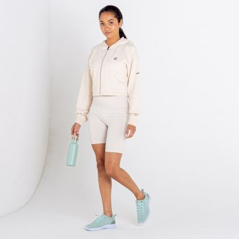 Women's Lounge About Cropped Hoodie Barley White Marl