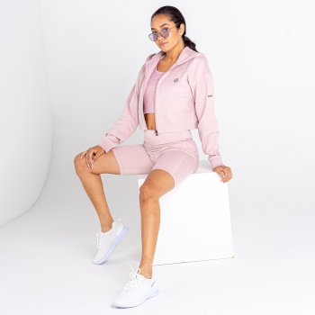 Women's Lounge About Cropped Hoodie Violet Ice