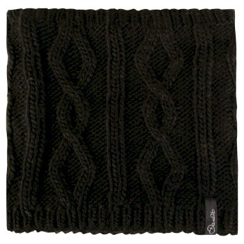 Women's Chill Shield Cable Knit Neck Warmer Black