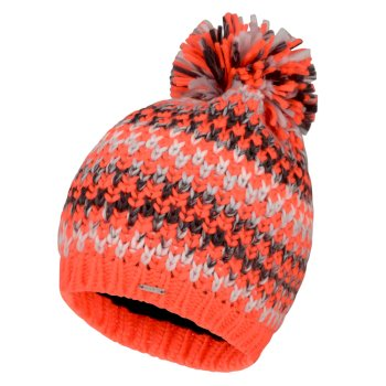 Women's Headlines Bobble Hat Fiery Coral