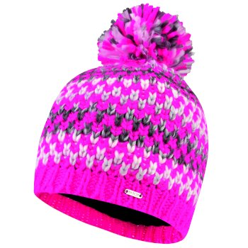 Women's Headlines Bobble Hat Cyber Pink