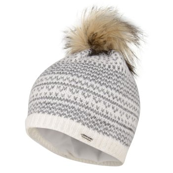 Women's Vitalize Faux Fur Bobble Hat White