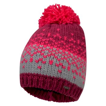 Women's Ideation Bobble Hat Fuchsia Argent Grey