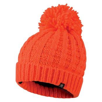 Bonnet à pompon Femme CONVOKE Orange