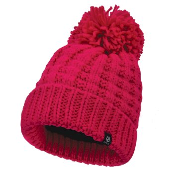 Women's Convoke Bobble Hat Cyber Pink