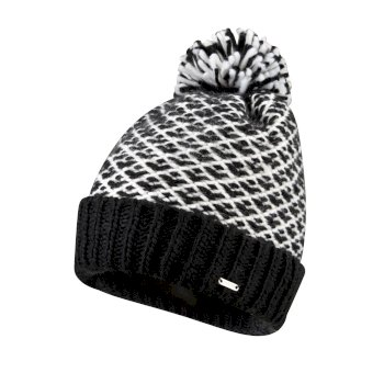 Women's Mystify Bobble Hat Black White