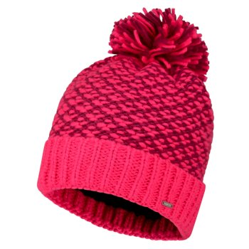 Women's Mystify Bobble Hat Cyber Pink Fuchsia