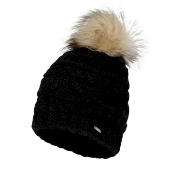 Women's Radiance Faux Fur Bobble Hat Black