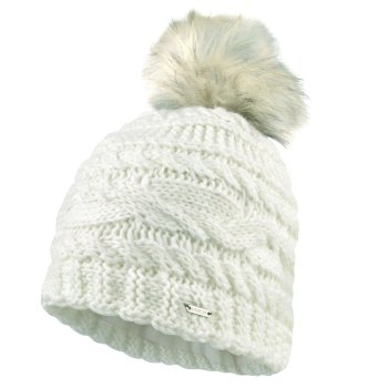 Women's Radiance Faux Fur Bobble Hat White