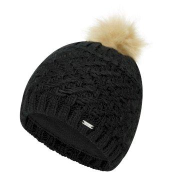 Women's Radiance II Fleece Lined Faux Fur Bobble Knit Beanie Black