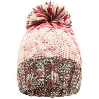 Women's Headmost Bobble Hat Beetroot Ebony Grey