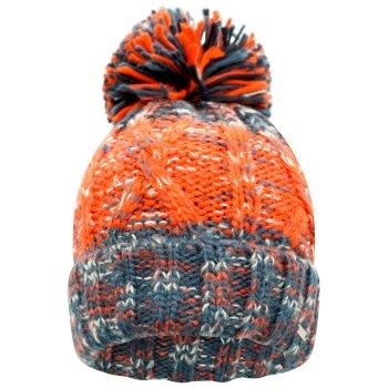 Women's Headmost Bobble Hat Nightfall Navy Grenadine Orange
