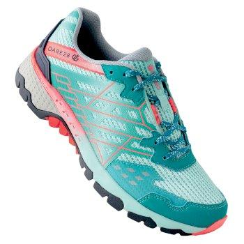 Women's Razor II Lightweight Trail Shoes Caribbean Green Fiery Coral