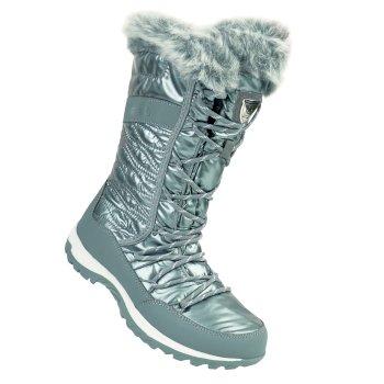 Women's Kardrona II Metallic Faux Fur Trimmed Snow Boots Silver
