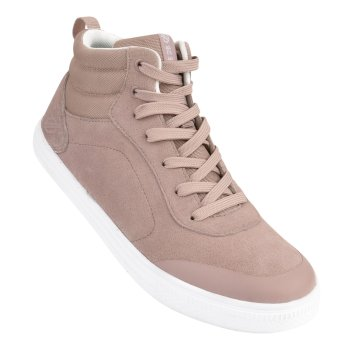 Women's Cylo High Top Suede Trainers Mink Pink
