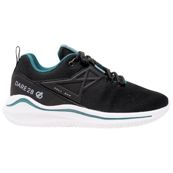 Women's Plyo Lightweight Trainers Black Dragonfly Green