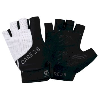 Women's Forcible Fingerless Gloves Black White