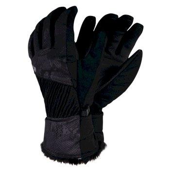 Women's Daring Printed Stretch Gloves Black