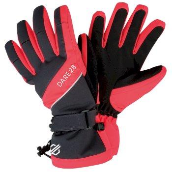 Women's Merit Stretch Gloves Ebony Fiery Coral