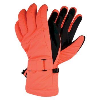 Women's Acute Waterproof Ski Gloves Fiery Coral