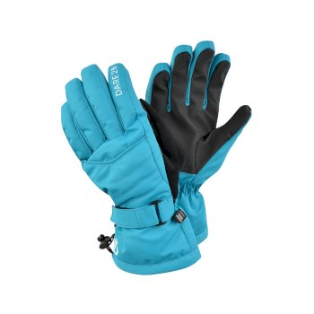 Women's Acute Waterproof Ski Gloves Azure Blue