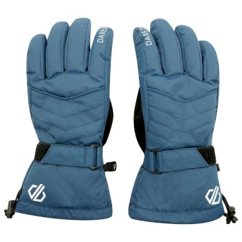 Women's Acute Waterproof Ski Gloves Dark Denim