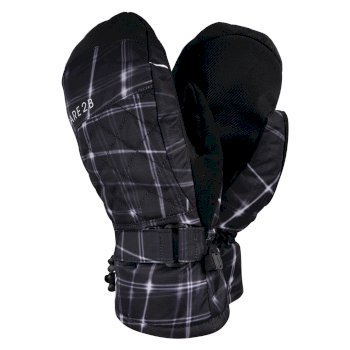 Women's Dignity Waterproof Ski Mitts Black Flow Print