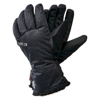Women's Iceberg Waterproof Insulated Ski Gloves Black Croc