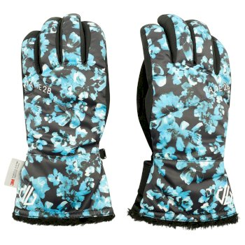 Women's Iceberg Waterproof Ski Gloves Methyl Blossom Print