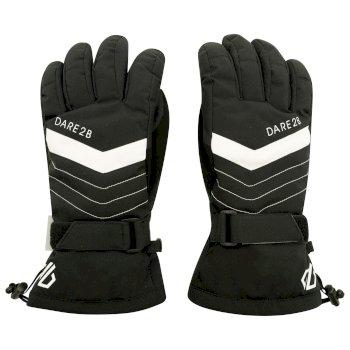 Women's Charisma Waterproof Insulated Ski Gloves Black White