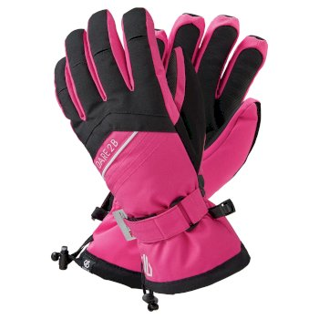 Women's Charisma Waterproof Insulated Ski Gloves Active Pink Black
