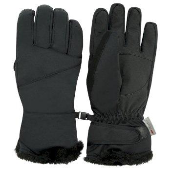 Women's Bejewel Waterproof Insulated Ski Gloves Black