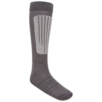 Women's Performance Ski Socks Ebony Grey Argent