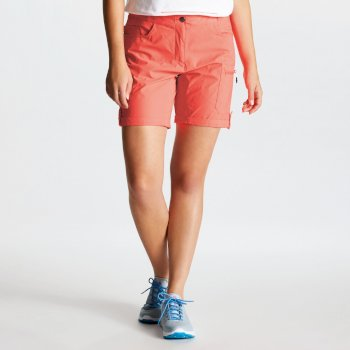 Short stretch Femme avec multiples poches MELODIC II Orange