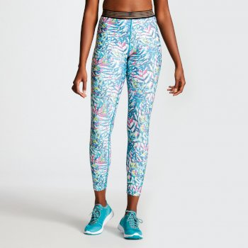 Women's Ambition Fitness Leggings Tropical Aruba Blue