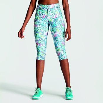 d58ea53c743f19 Women's Ambition 3/4 Length Printed Leggings Tropical Aruba Blue
