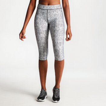 Women's Ambition 3/4 Fitness Leggings Black White