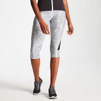 Women's Worldly Capri Cycle Leggings Black White