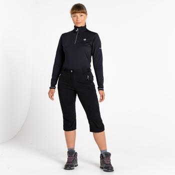 Pantalon stretch Femme longueur 3/4 MELODIC II Noir