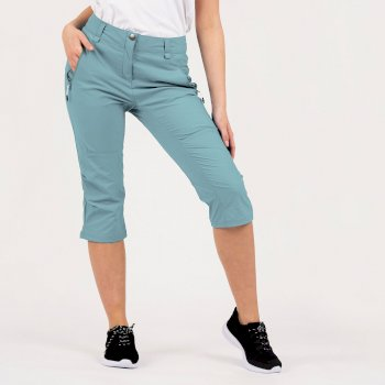 Women's Melodic II 3/4 Length Walking Trousers Cameo Green
