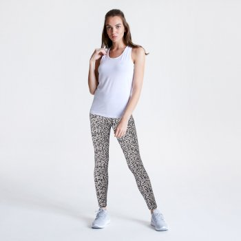 Women's Influential Leggings White Zoological Print