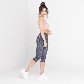 The Laura Whitmore Edit - Influential 3/4 Length Leggings Powder Pink Wave Print