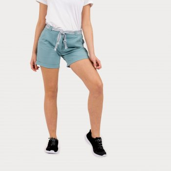 Women's Melodic Offbeat Shorts Cameo Green