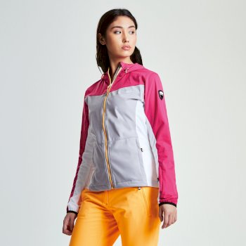 Women's Sovereign Windproof Softshell Jacket Pink Fusion Silver Flash