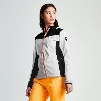 Women's Sovereign Windproof Softshell Jacket White Black